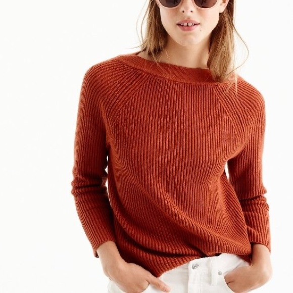 J Crew Boatneck Navy Sweater